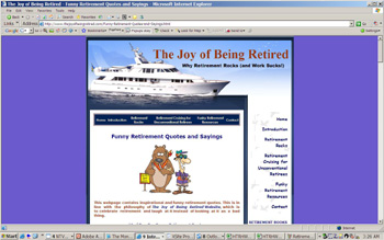 Money Image - The Joy of Being Retire